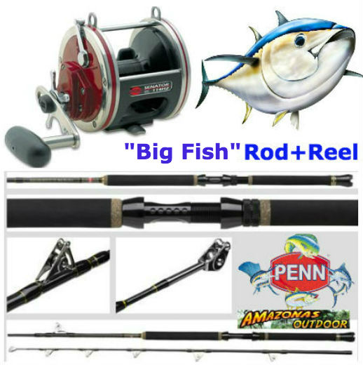 Penn big fish rod and reel combo amazonas outdoor for Tuna fishing rod and reel combos