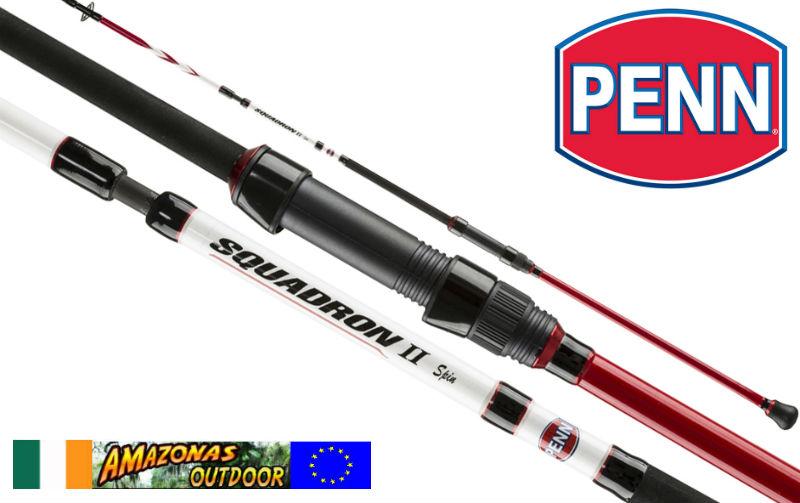 Penn squadron 2 spin rod saltwater amazonas outdoor for Pen fishing rod amazon
